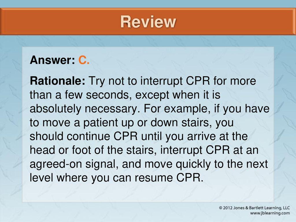 you should continue cpr until