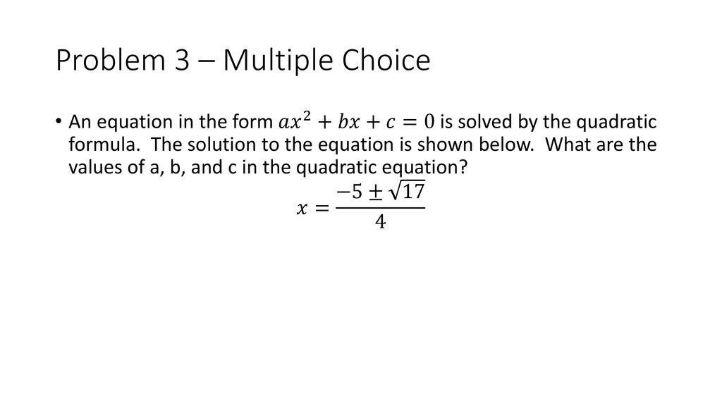 Unit 6 Part 2 Test Review Algebra ppt download