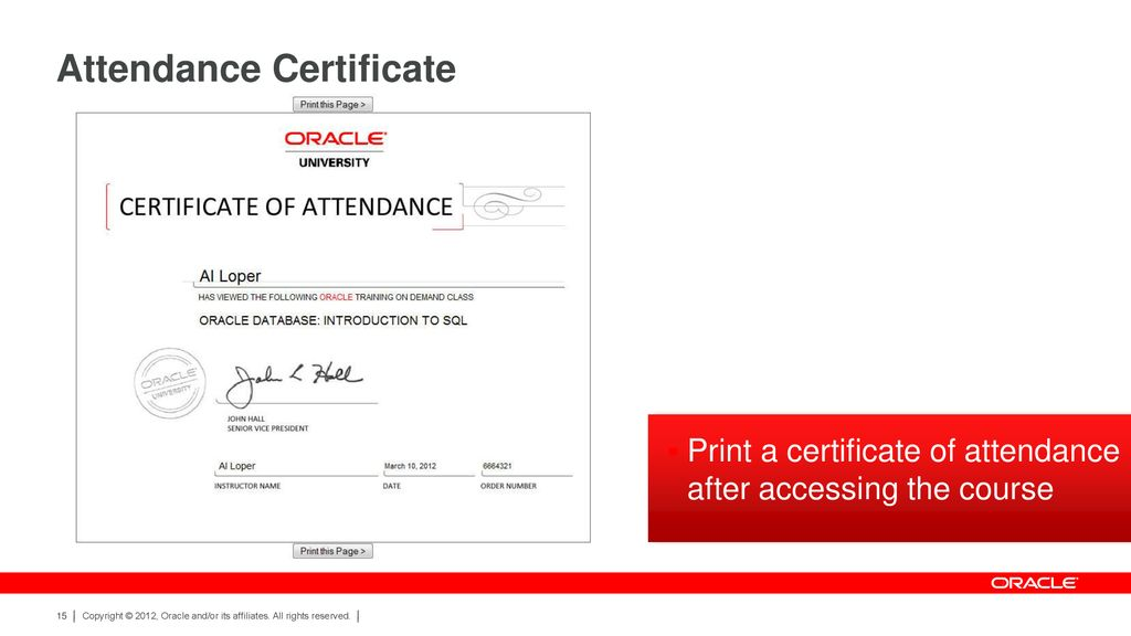 Oracle University Training On Demand - ppt download
