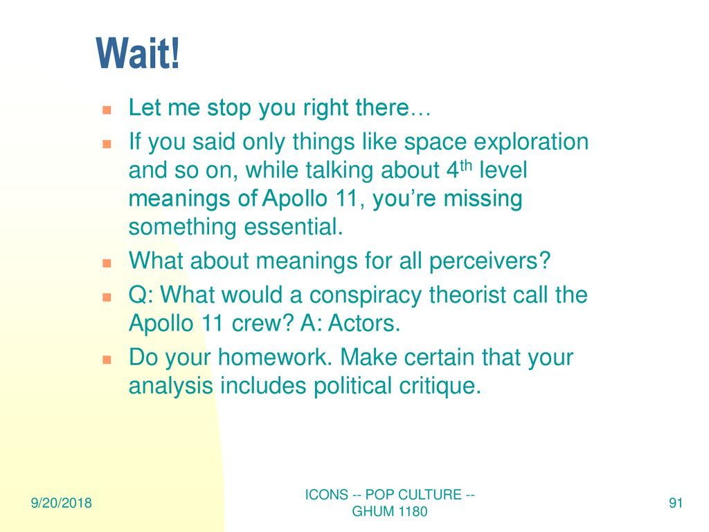 ICONS -- POP CULTURE -- GHUM ppt download