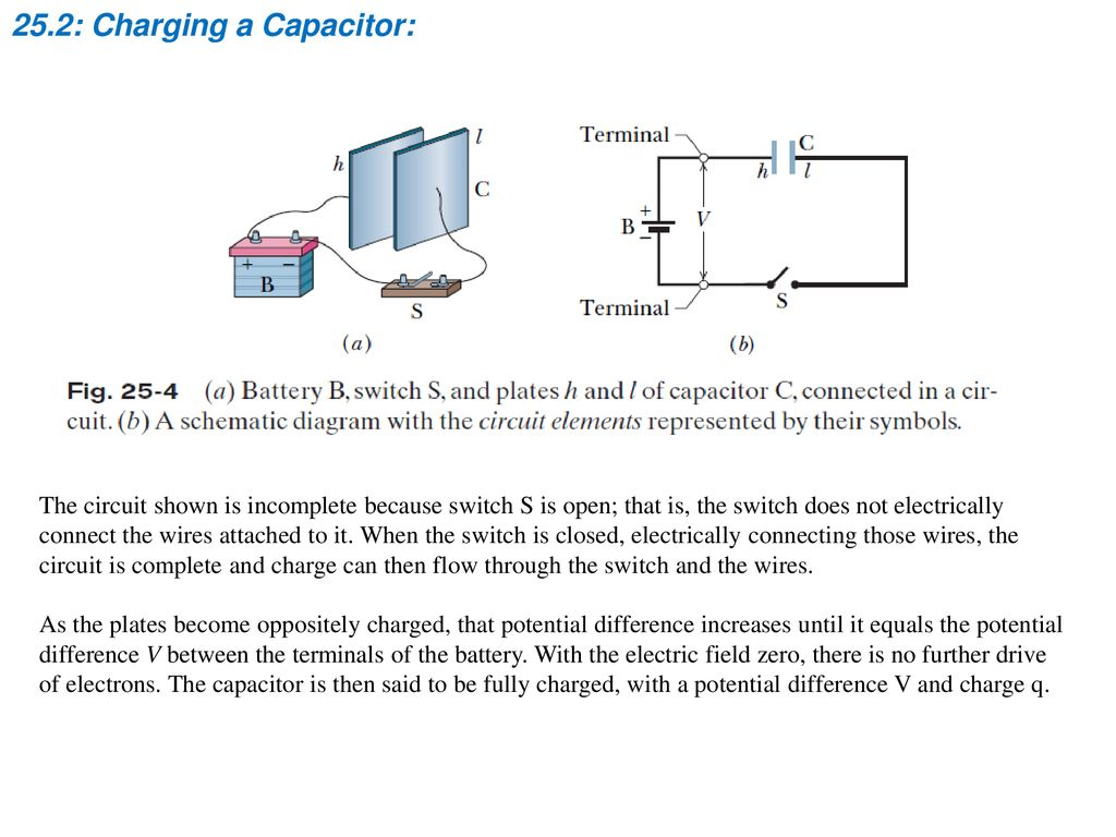 Chapter 25 Capacitance Ppt Download Wiring Capacitors In Parallel 252 Charging A Capacitor