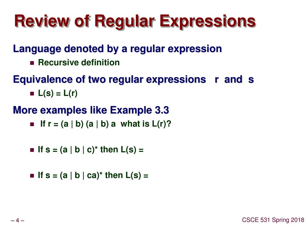 Lecture 3 RegExpr  NFA  DFA - ppt download