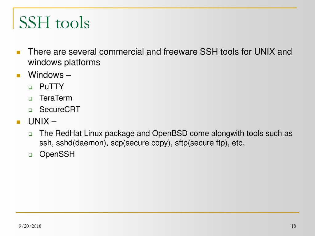 SSH – The 'Secure' Shell - ppt download