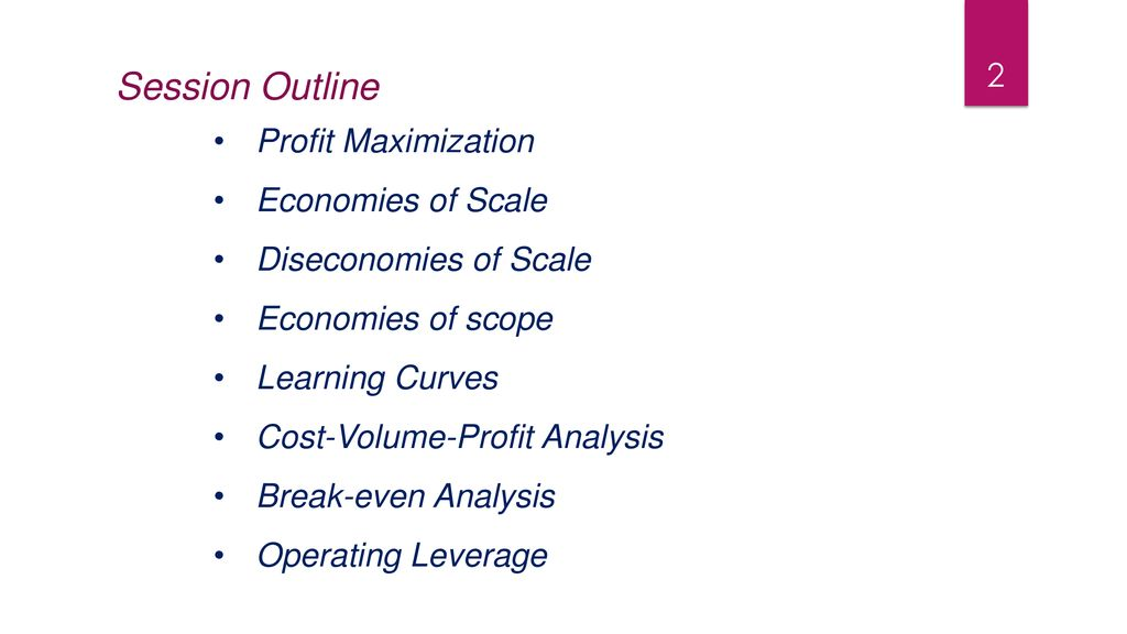 profit analysis in managerial economics