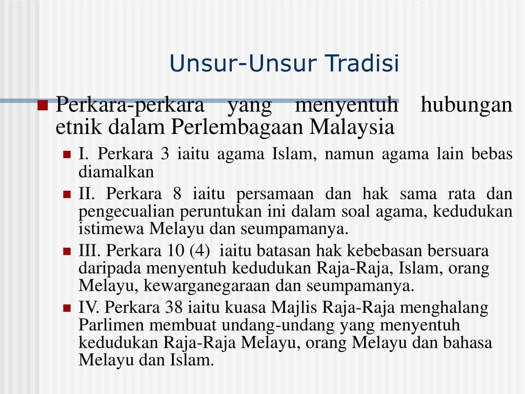 Perlembagaan Malaysia Dalam Konteks Hubungan Etnik Di Malaysia Ppt Download