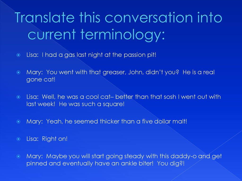 Translate this conversation into current terminology: - ppt download