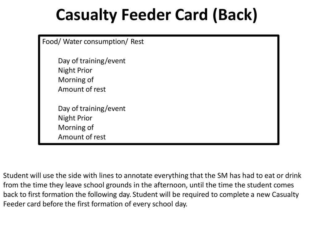 Casualty Feeder Card (Back)