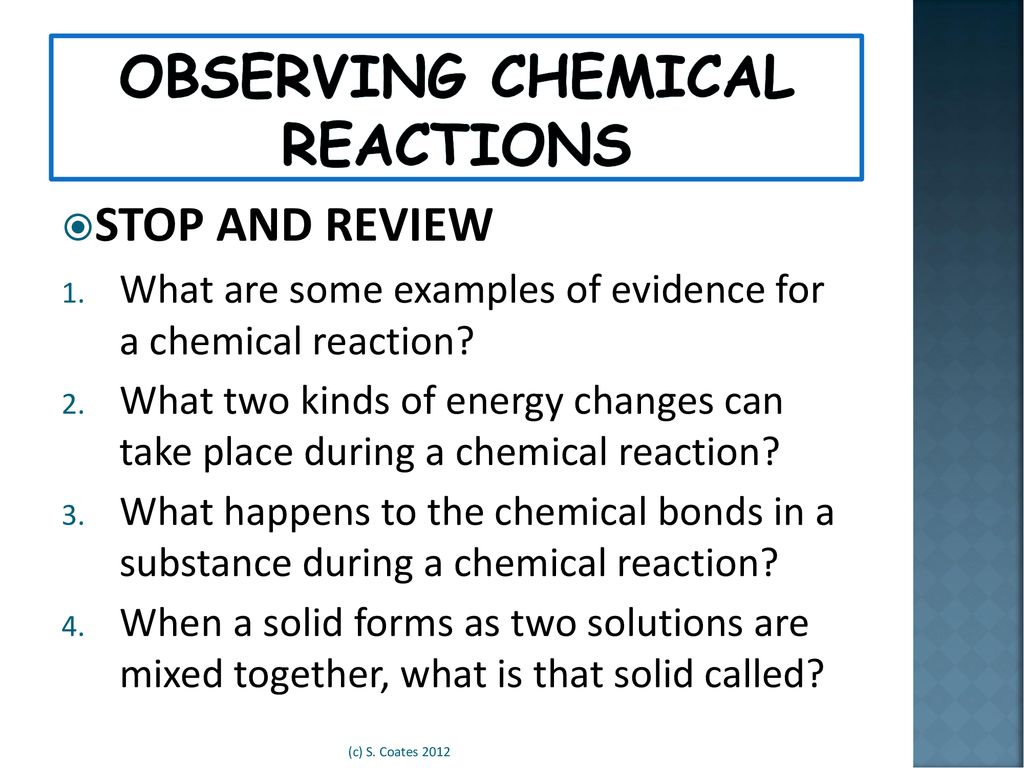 Introduction To Chemical Reactions Ppt Download