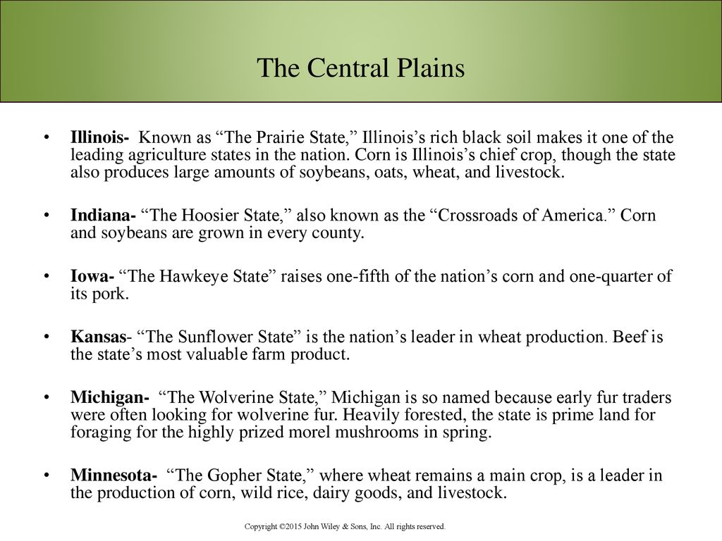 Chapter 6 The Cuisine of the Central Plains - ppt download