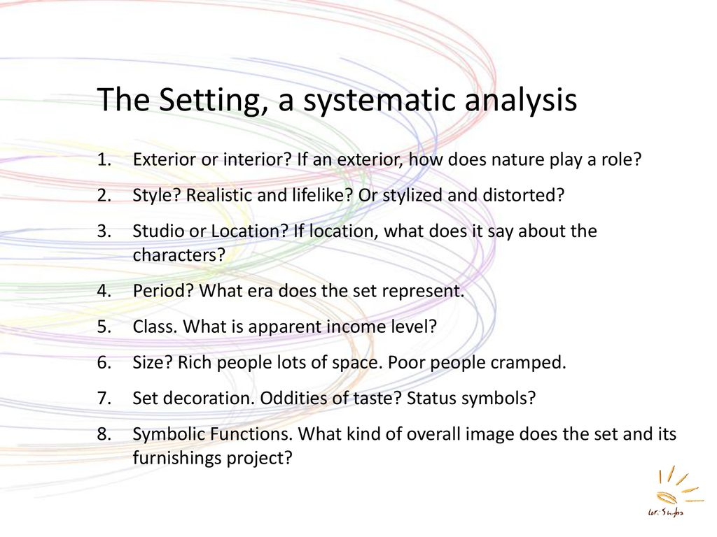 15 Elements To Analyze Mise En Scene Ppt Download