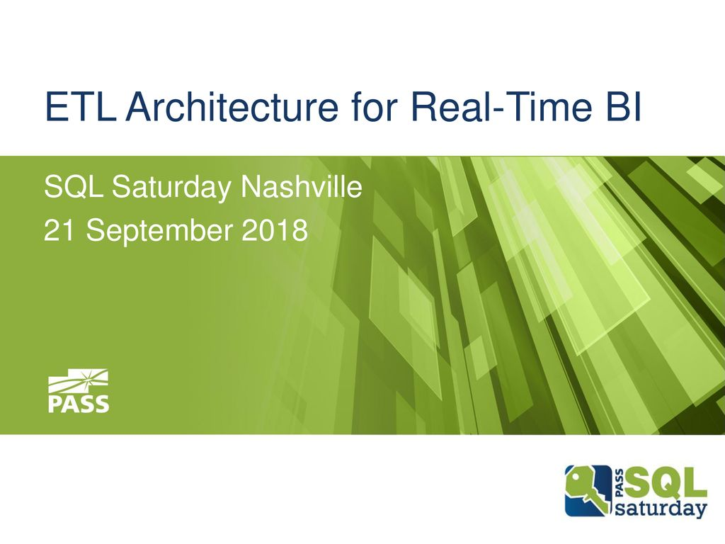 ETL Architecture for Real-Time BI