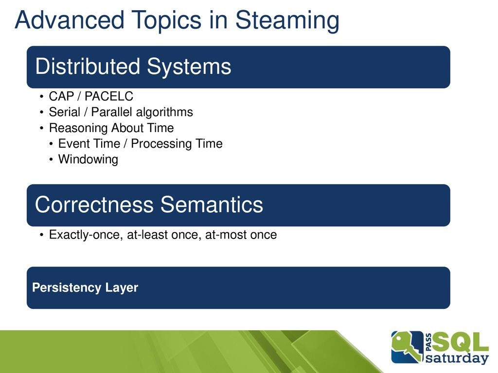 Advanced Topics in Steaming