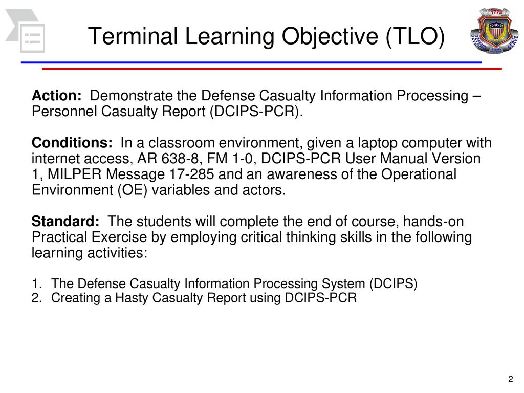 critical thinking dcips