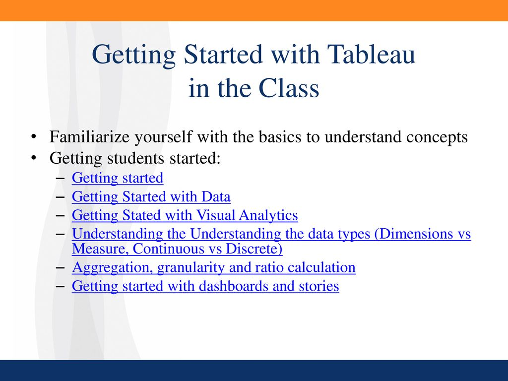 Teaching with Tableau® and Best Practices - ppt download