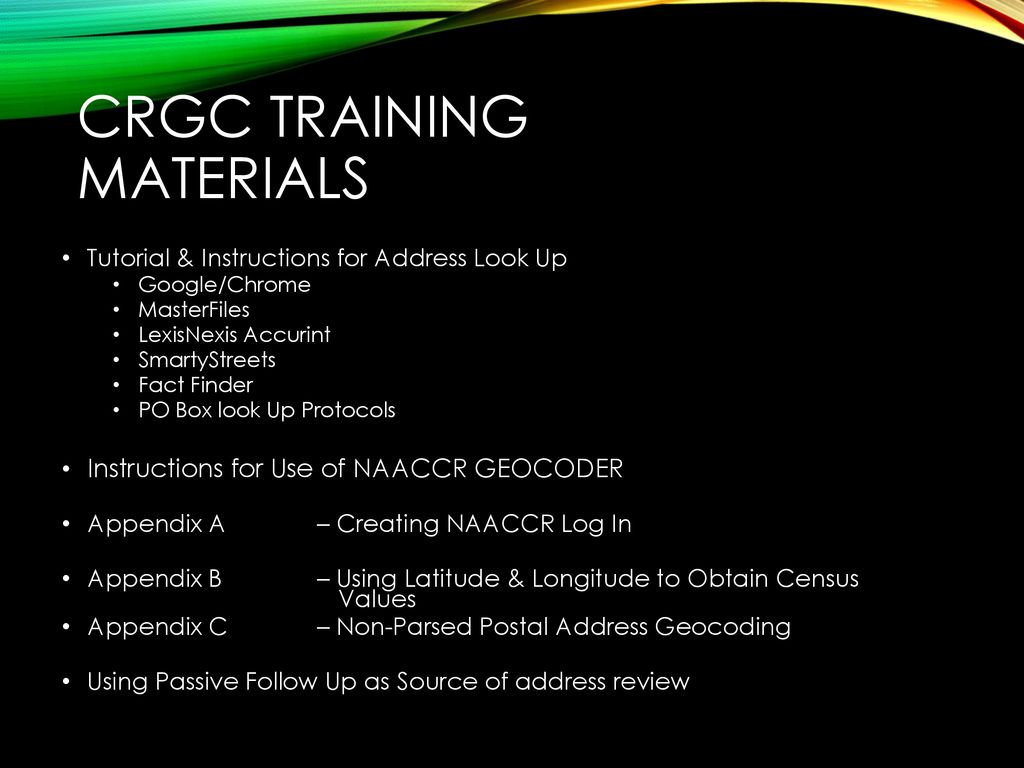 SEER Geocoding Accuracy - ppt download
