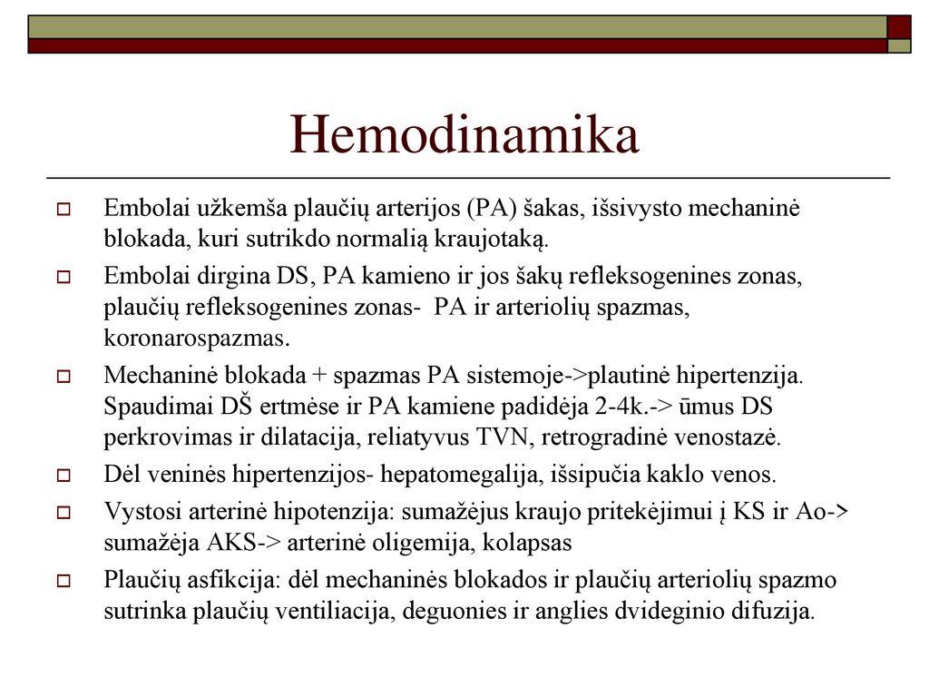 Plautinė hipertenzija | profine.lt