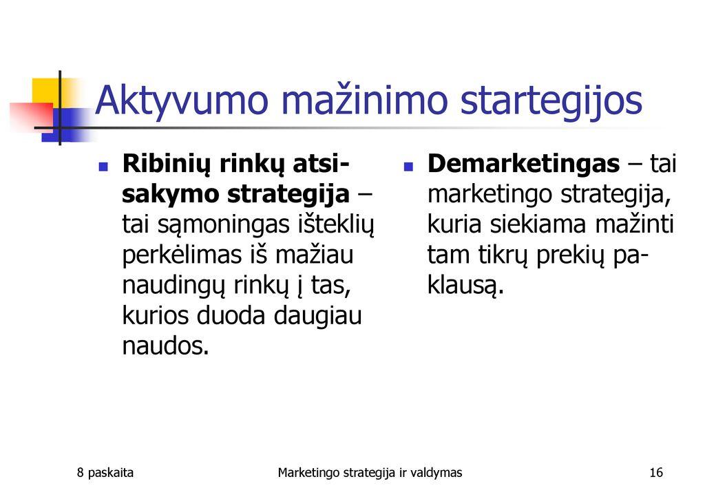prekybos strategijos ppt