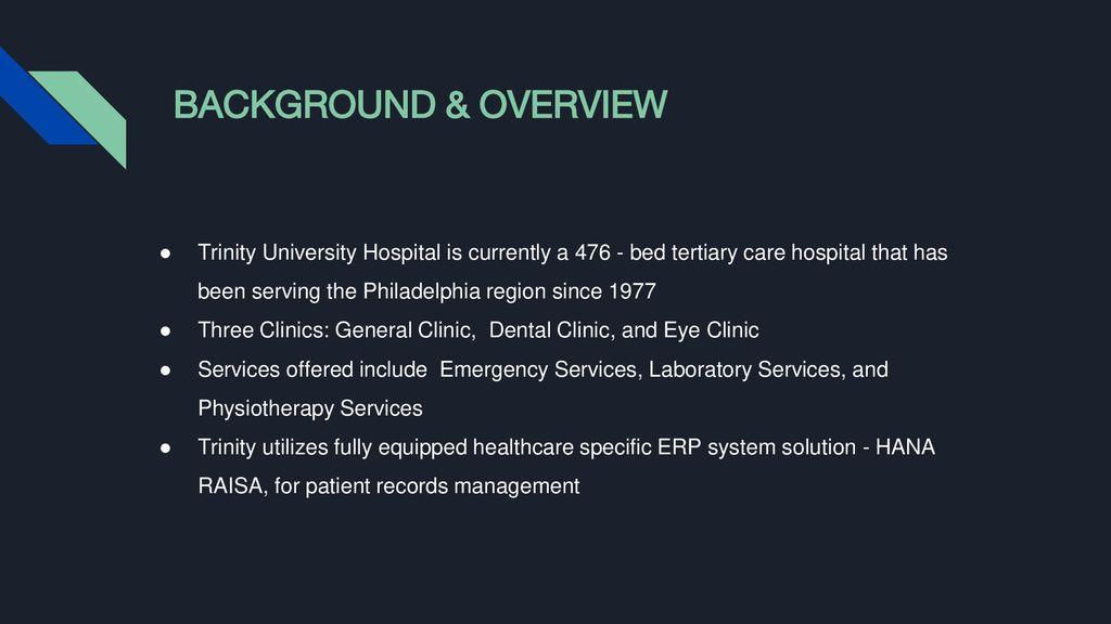 TRINITY UNIVERSITY HOSPITAL INTERNAL EXIT MEETING - ppt download