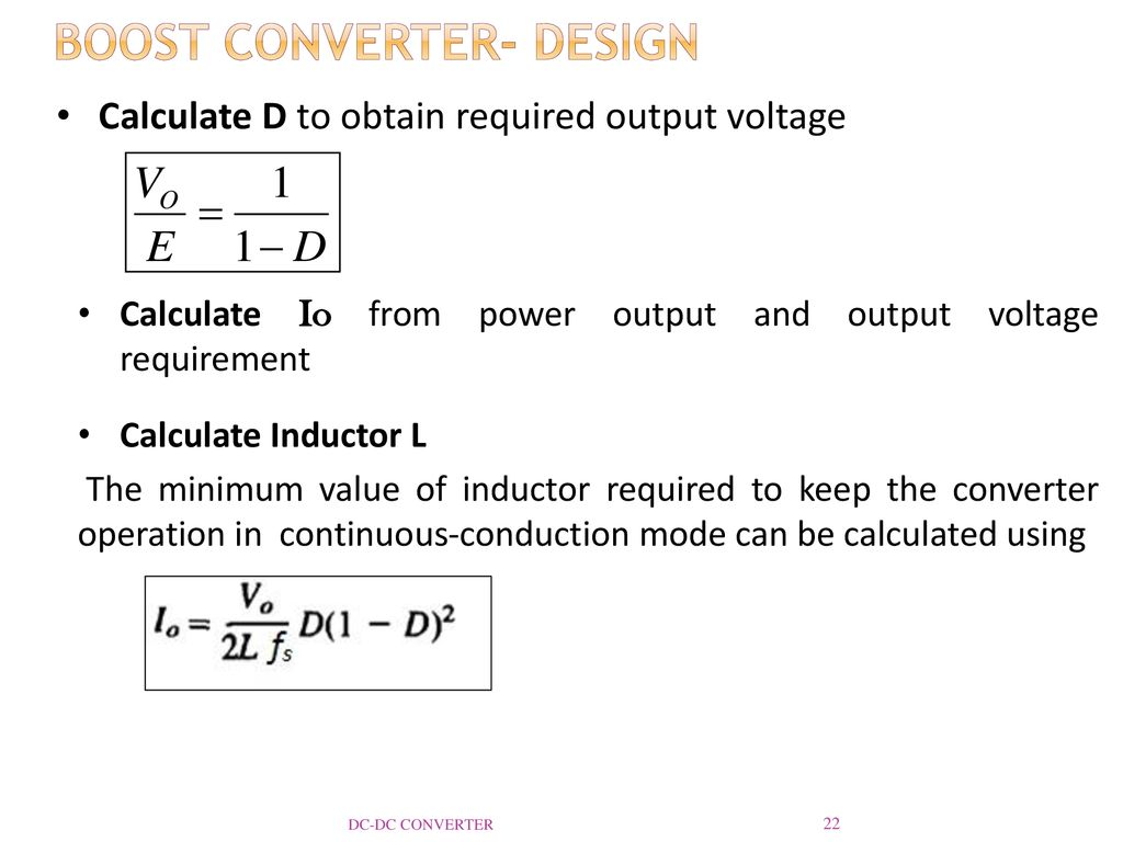 Dc Converter Reference Ppt Download Inductor Requirements For Converters And Filters In Automotive Boost Design