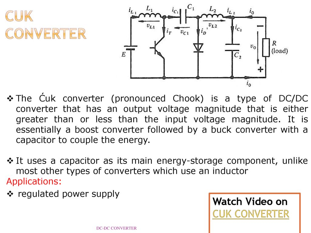 Dc Converter Reference Ppt Download Inductor Requirements For Converters And Filters In Automotive Cuk Watch Video On