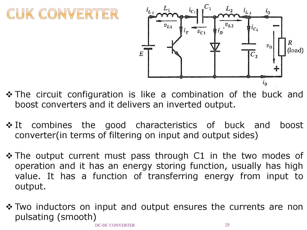 Dc Converter Reference Ppt Download The Schematic For This Positive Boost Circuit Cuk Configuration Is Like A Combination Of Buck And Converters
