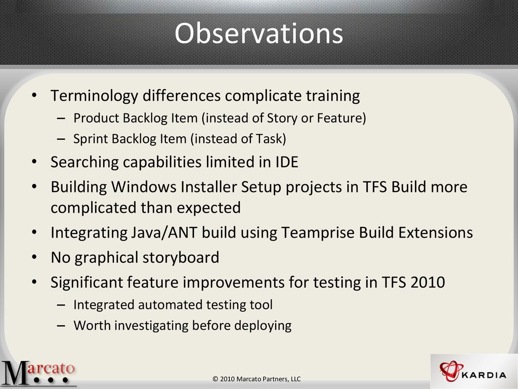 Scrum Experience Group Team Foundation Server (TFS) - ppt