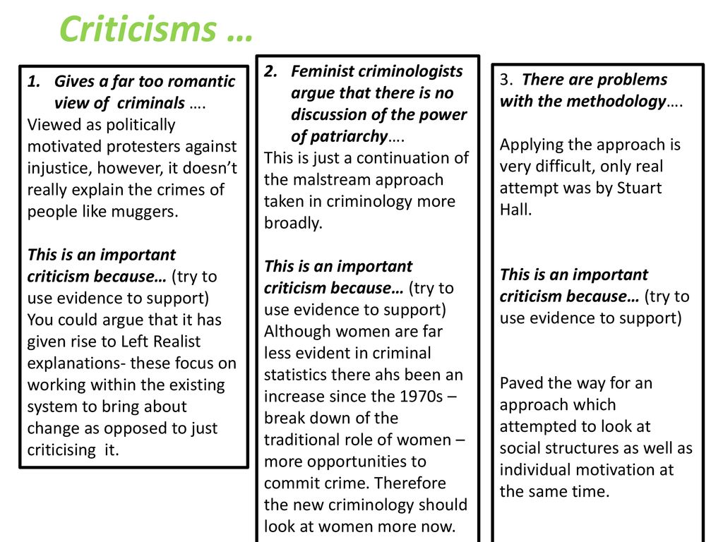 feminist criminology criticisms