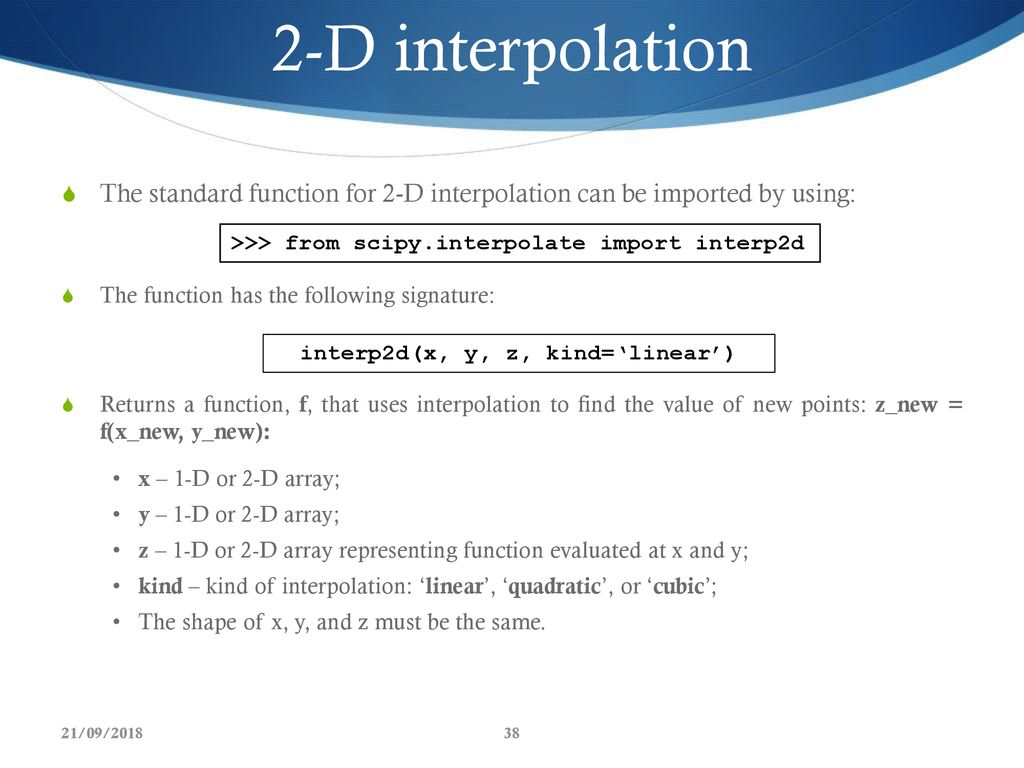 Scipy Interpolate 2d