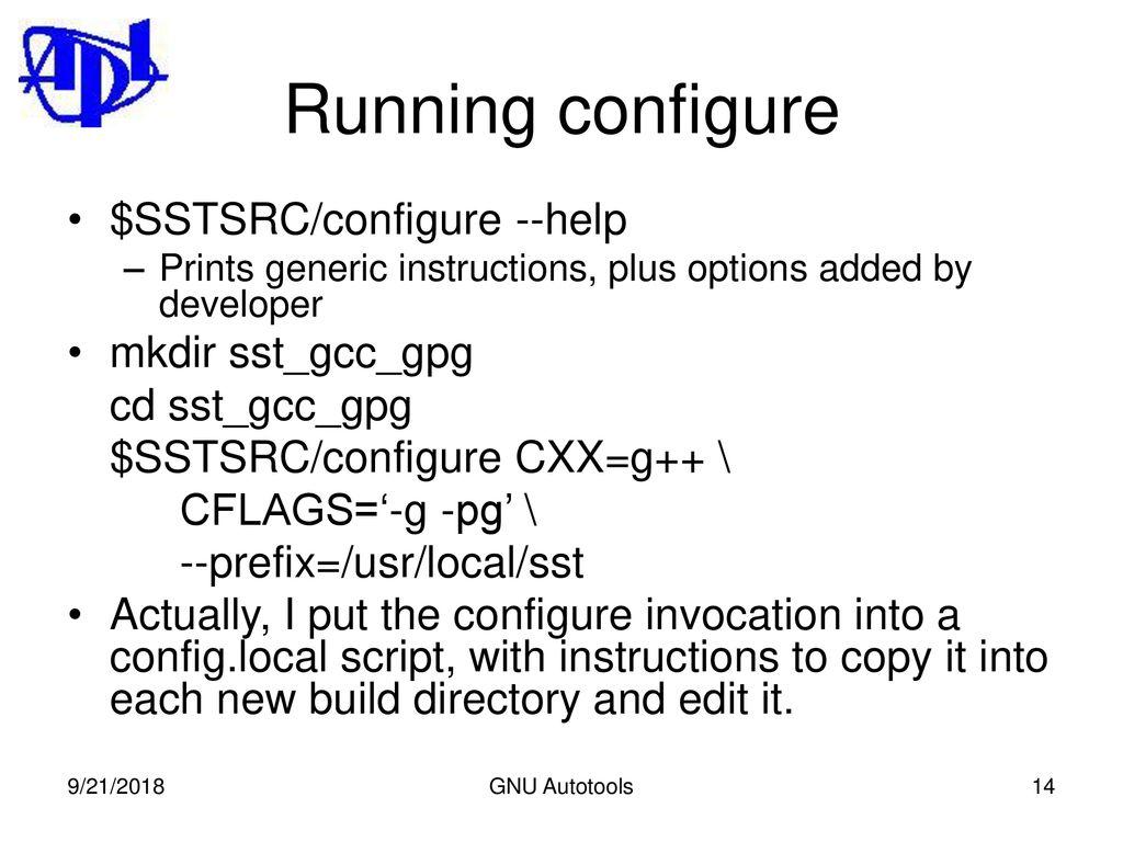 The GNU Autotools: autoconf, automake, (libtool) - ppt download