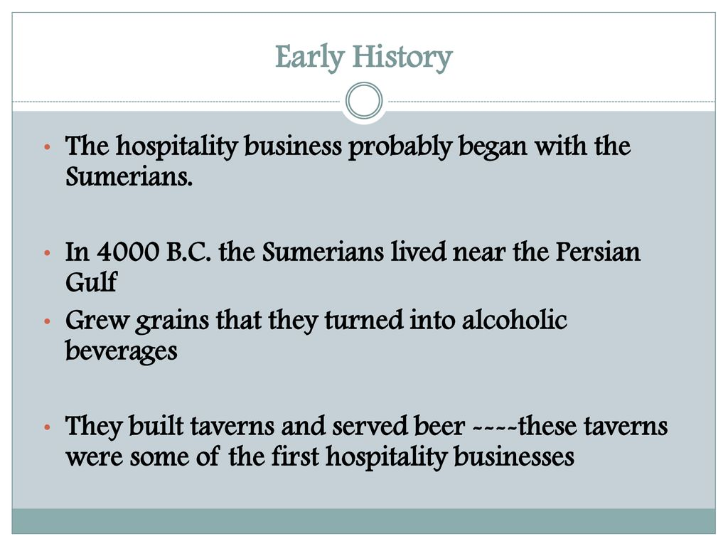 History of Hospitality - ppt download