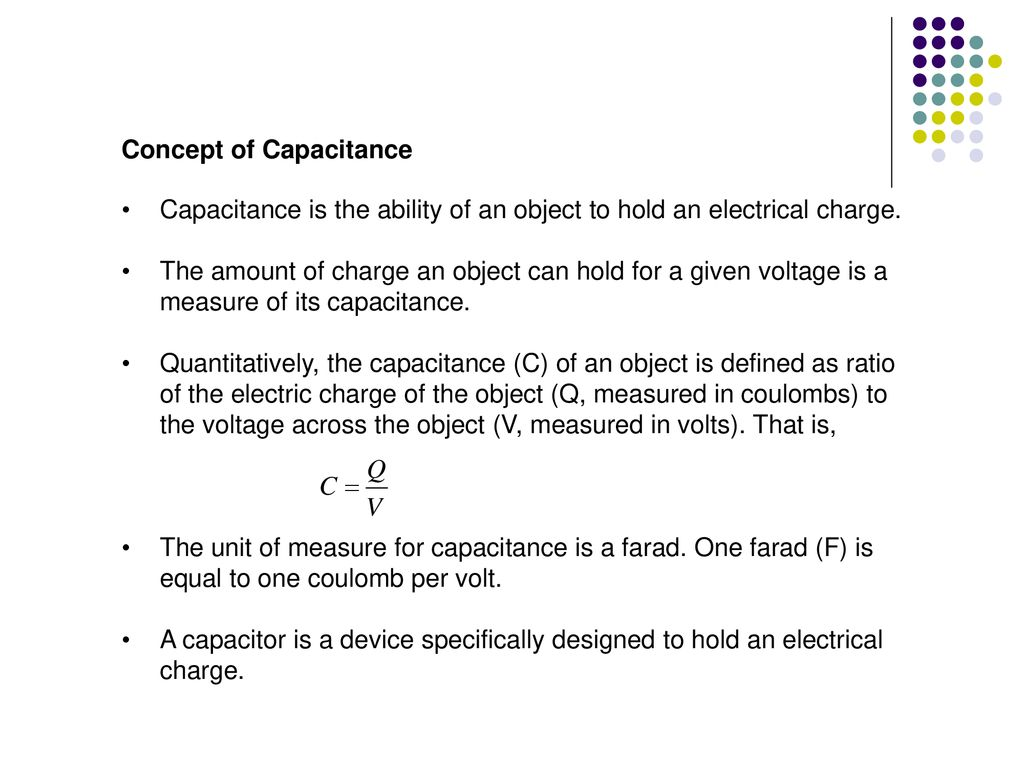 What is the electrical capacitance of a capacitor 2
