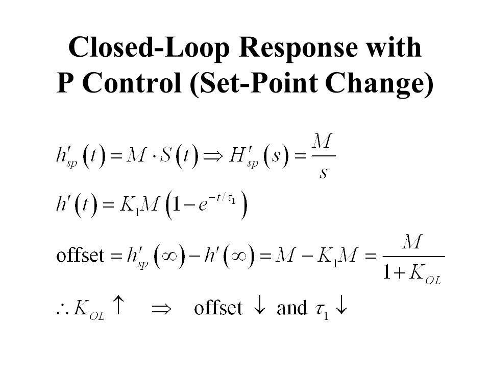 Closed-Loop Response with P Control (Set-Point Change)