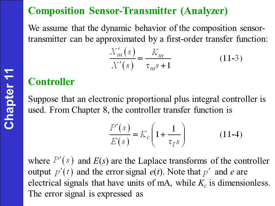 Chapter 11 Composition Sensor-Transmitter (Analyzer) Controller