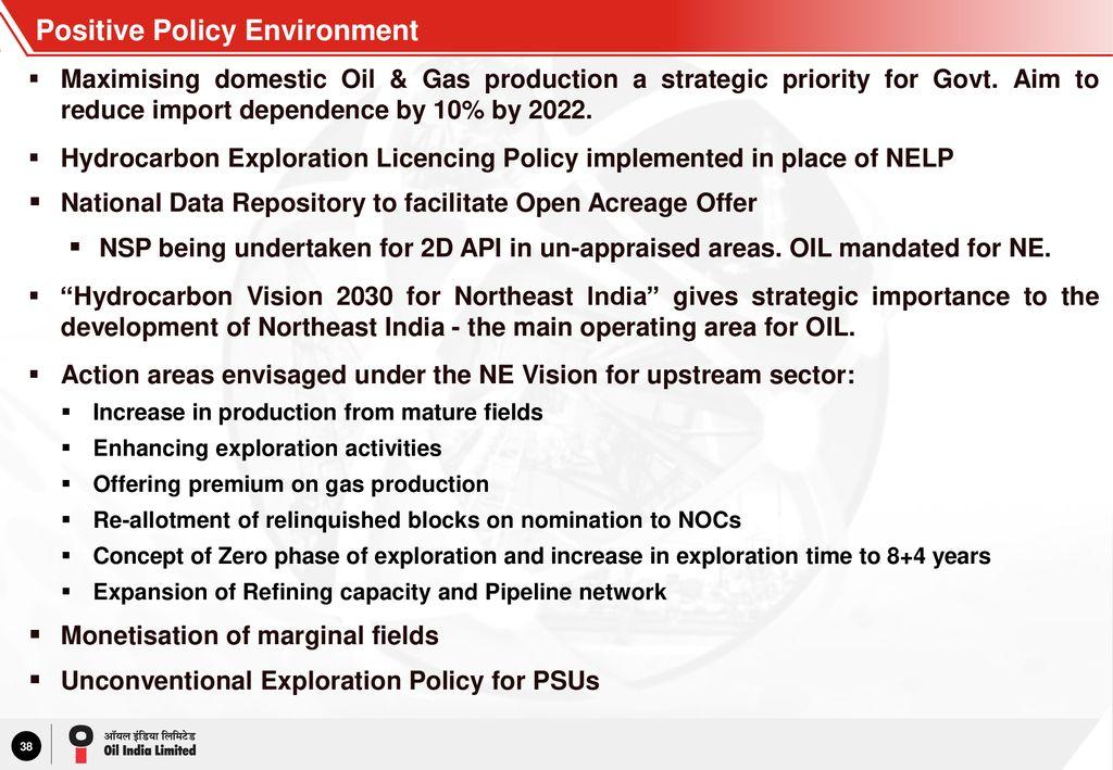 Oil India Limited Investor Presentation – July ppt download
