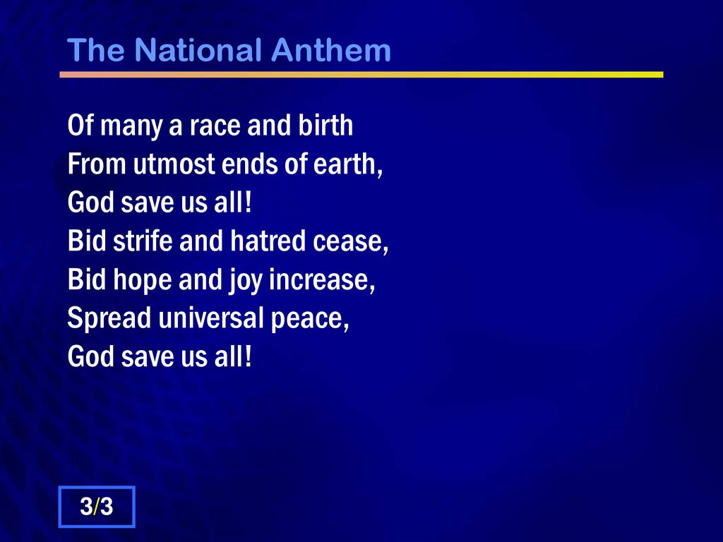 The National Anthem God Save Our Gracious Queen Long Live