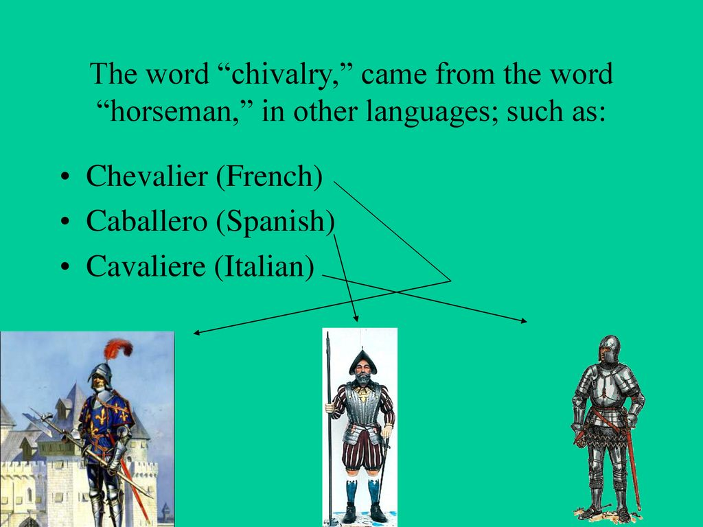 where did the word chivalry come from