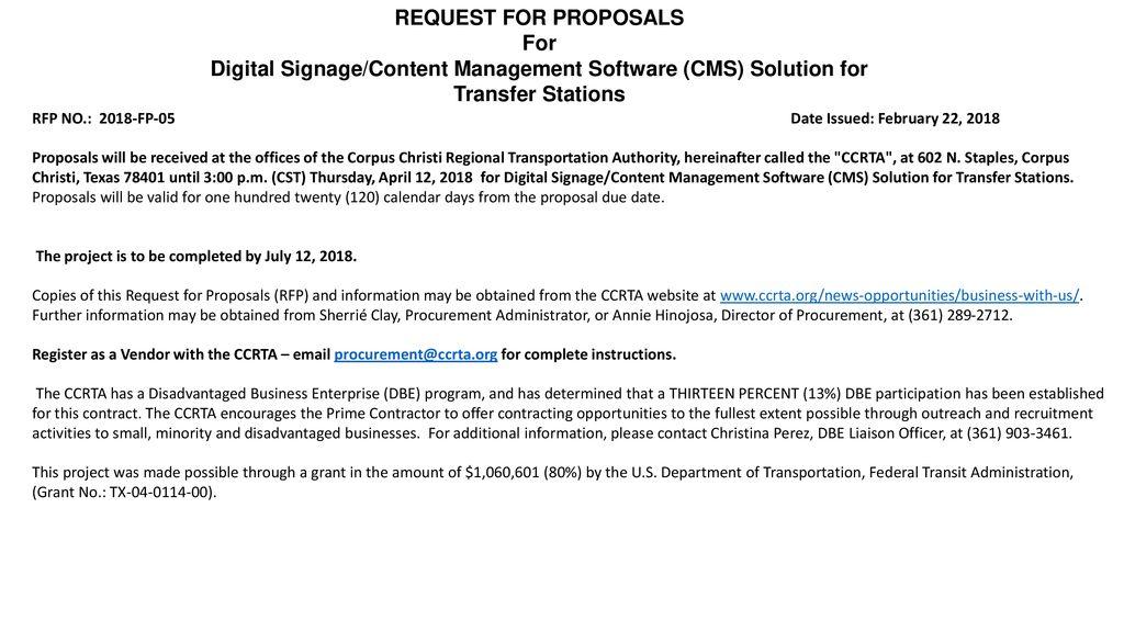 DIGITAL SIGNAGE/CONTENT MANAGEMENT SOFTWARE (CMS) SOLUTION FOR - ppt