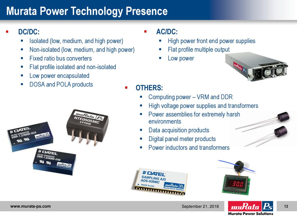 Corporate Overview September 21 Ppt Download Complete Ddr Power Solution Murata Technology Presence