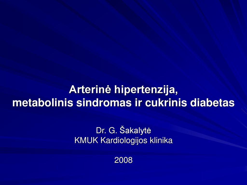 Sunkiai suvaldoma hipertenzija: cukrinis diabetas ir vyresnis amžius