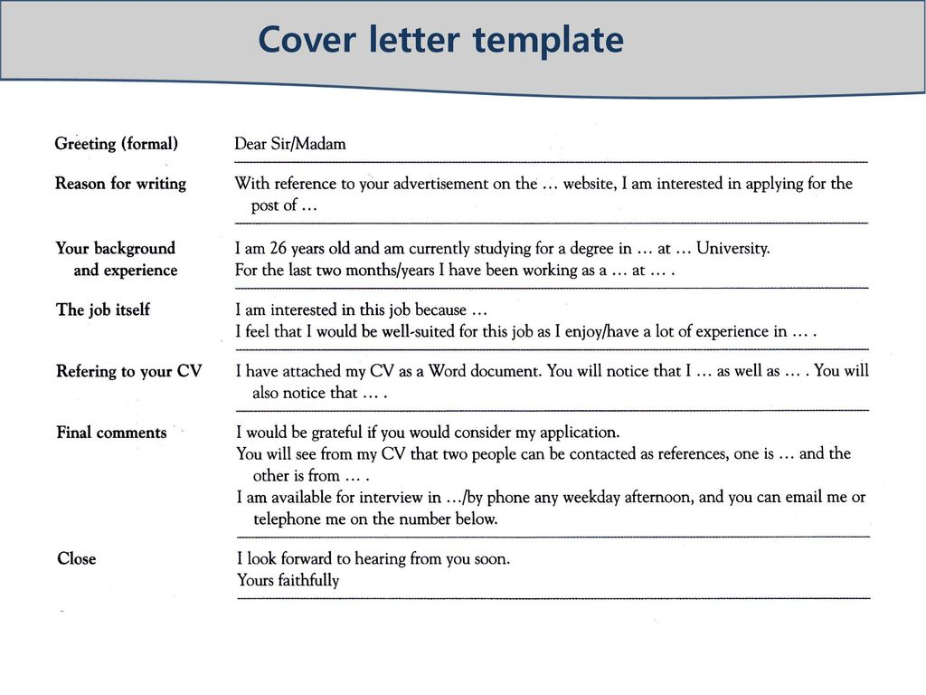 Greeting For Cover Letter from slideplayer.com