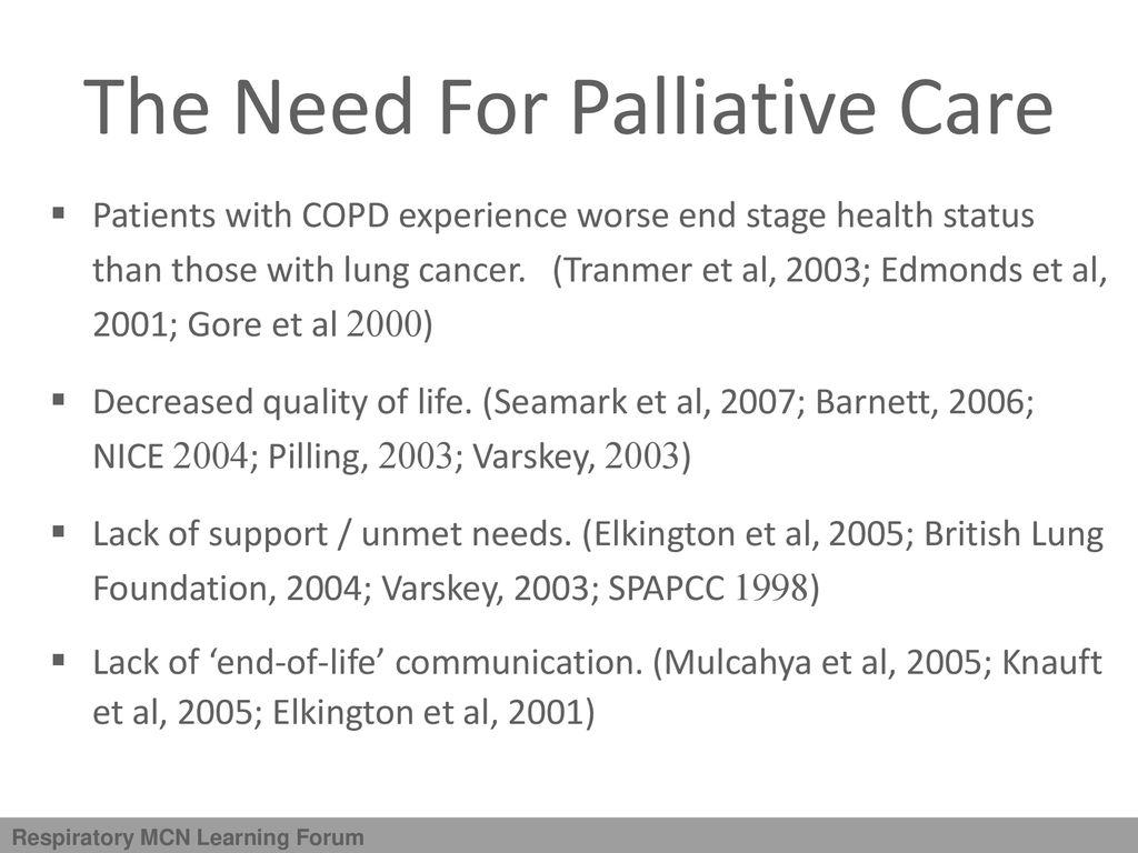 Delivering Respiratory Palliative Care - ppt download