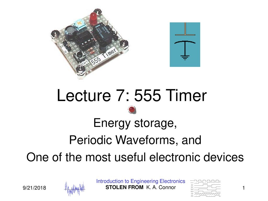 Lecture 7 555 Timer Energy Storage Periodic Waveforms And Ppt Monostable Circuit Electrical Engineering Electronics