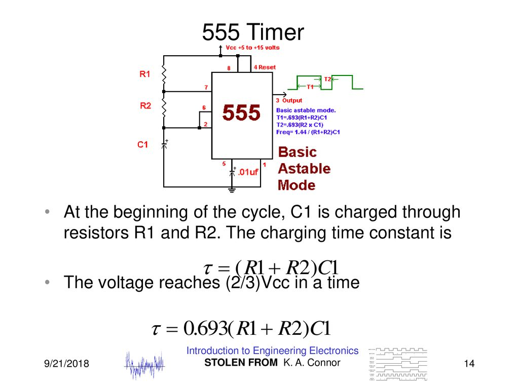 Lecture 7 555 Timer Energy Storage Periodic Waveforms And Ppt 741 Astable 14 Introduction To Engineering Electronics