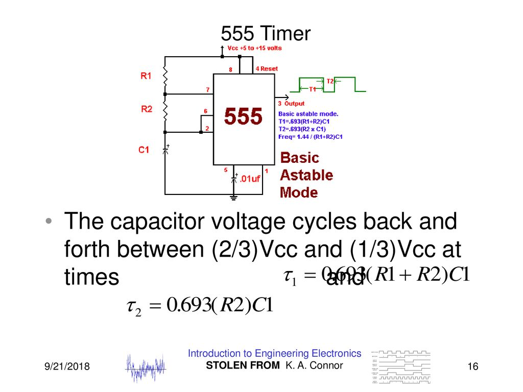Lecture 7 555 Timer Energy Storage Periodic Waveforms And Ppt Astable Mode 16 Introduction To Engineering Electronics