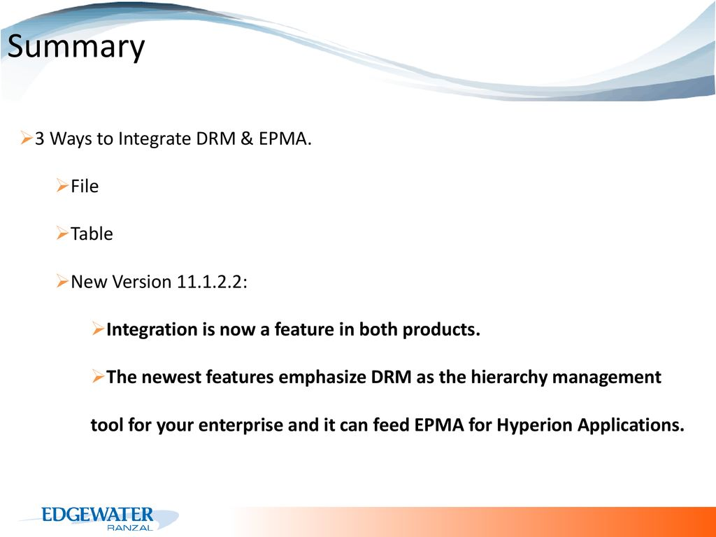 DRM & EPMA: Best Practices - ppt download