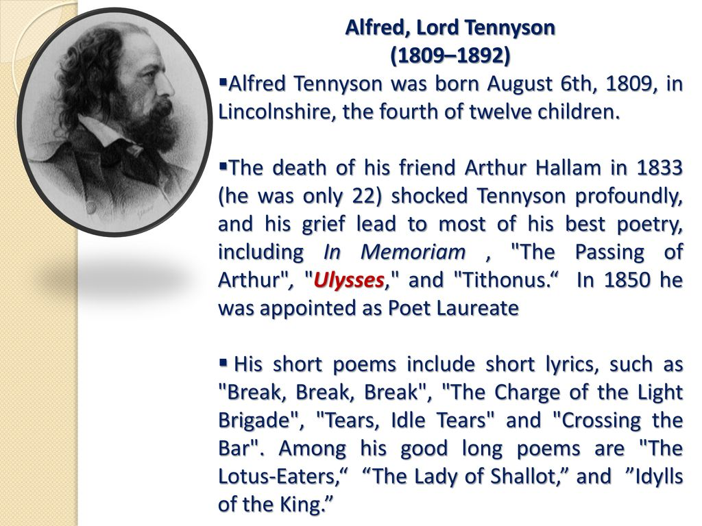 Ulysses Alfred Lord Tennyson Ppt Download