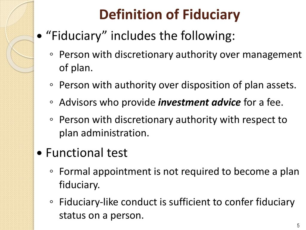 overview of erisa fiduciary responsibility and liability and best