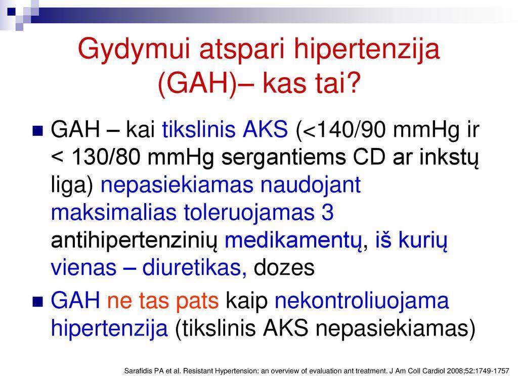 kas ir hipertenzija