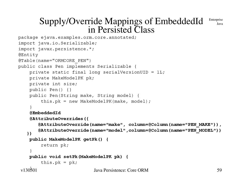 Java Persistence: Core Object/Relational Mapping - ppt download