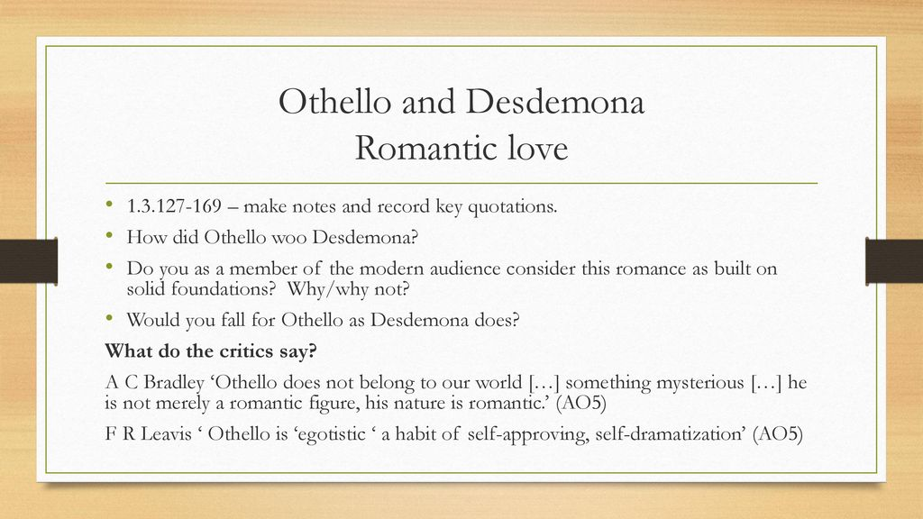 why does desdemona fall in love with othello